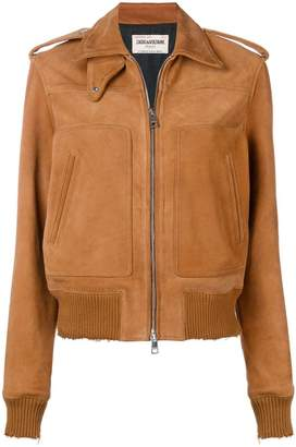 Zadig & Voltaire Zadig&Voltaire Fashion Show distressed leather jacket