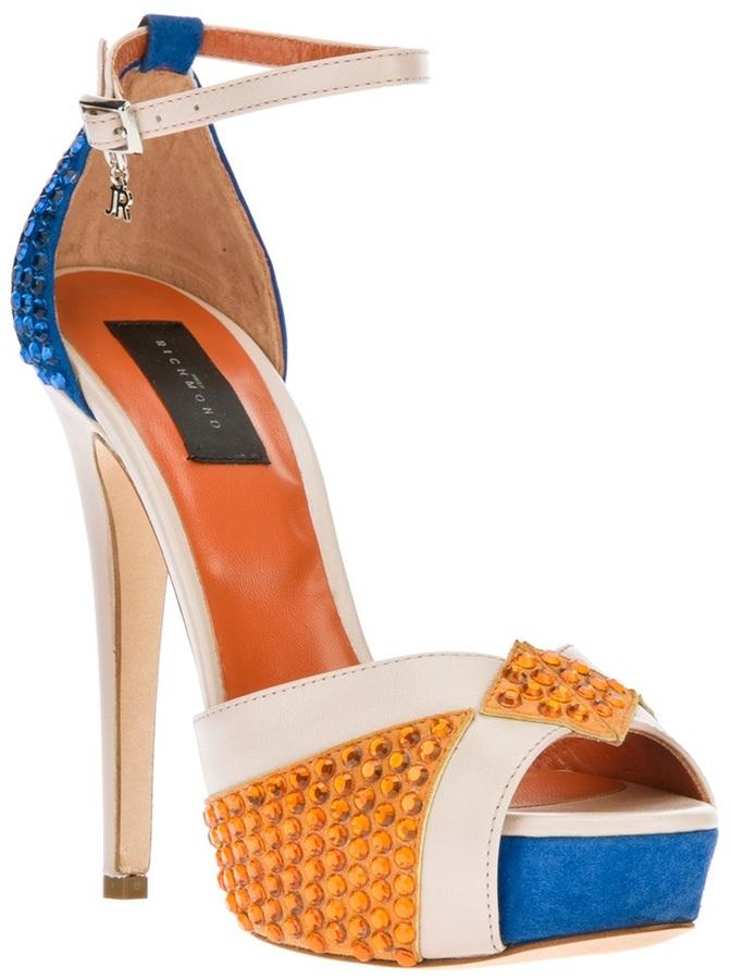 John Richmond crystal embellished sandal