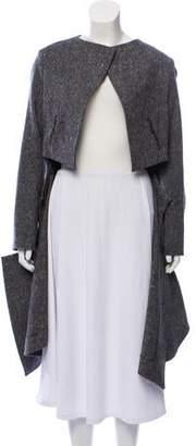 Saint Laurent Asymmetrical Wool Coat w/ Tags