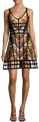 Herve Leger Knit Cut-Out Dress