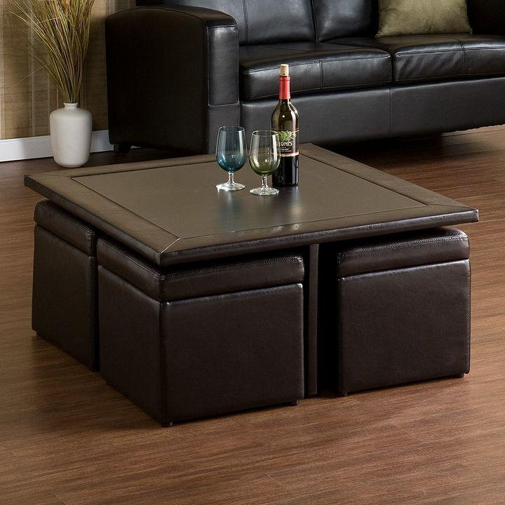 Southern enterprises Nylo Storage Ottoman & Table Set