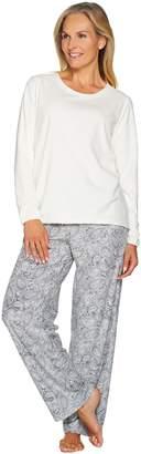 Stan Herman Petite Micro Fleece Novelty Pajama Set