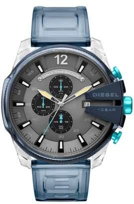 Diesel R) Mega Chief Chronograph Polyurethane Strap Watch, 51mm