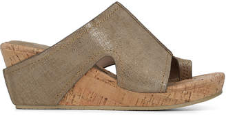 Donald J Pliner GEE, Distressed Metallic Wedge Sandal
