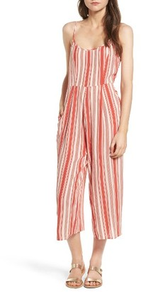 Women's Band Of Gypsies Stripe Crop Jumpsuit $48 thestylecure.com