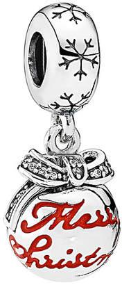 Pandora Merry Christmas Silver Cz & Enamel Bauble Dangle Charm