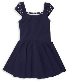 Zoe Girl's Riley Studded Cap Sleeve Dress