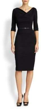 Black Halo Jackie O. Three-Quarter Sleeve Dress