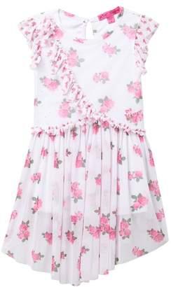 Betsey Johnson Floral Print Mesh Dress (Big Girls)