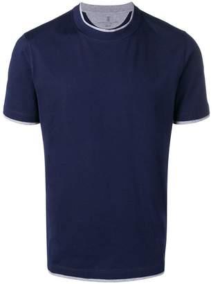 Brunello Cucinelli contrast trim T-shirt
