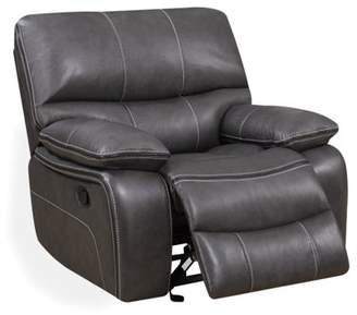 Global Furniture USA Global Furniture U0040 Glider Recliner in Grey Leather