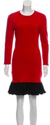 Guy Laroche Virgin Wool Knee-Length Dress