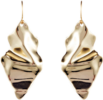 Alexis Bittar Crumpled Gold Wire Earring