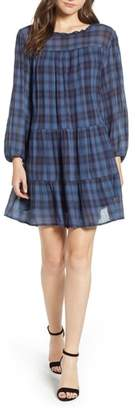 Velvet by Graham & Spencer Soft Tiered Plaid Cotton Shift Dress