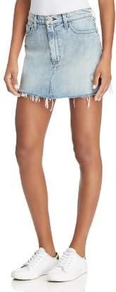 Hudson Vivid Distressed Denim Skirt in High and Dry