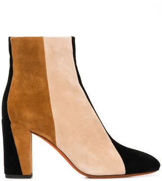 Santoni colour block ankle boots