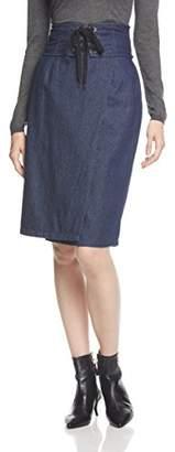 WEGO (ウィゴー) - (ウィゴー) WEGO(ウィゴー) コルセットベルトラップタイトスカート DU17AU09-L005 デニム濃色 F