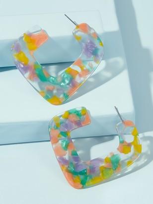 Shein Colorful U Shaped Earrings 1pair