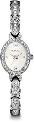 Bulova Women's Stainless Oval Crystal Watch