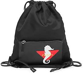 edbbae251fc6 Prada Men s Logo Graphic Drawstring Backpack