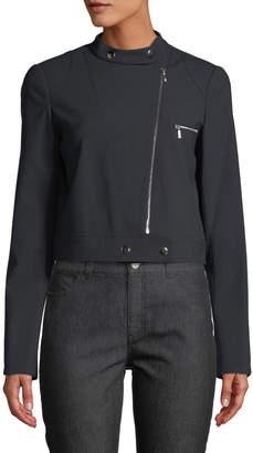 Lafayette 148 New York Lisette Wool-Twill Moto Jacket