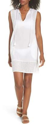 Echo Eyelet Trim Cover-Up Tunic