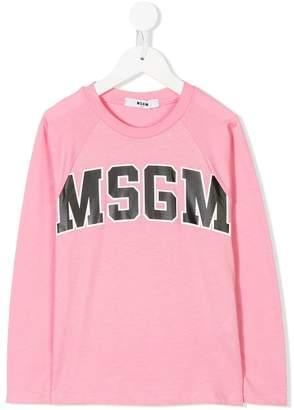 MSGM logo print baseball top