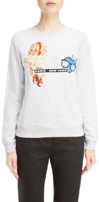 Women's Kenzo Graphic Brushed Sweatshirt $270 thestylecure.com