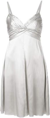Armani Collezioni draped front dress