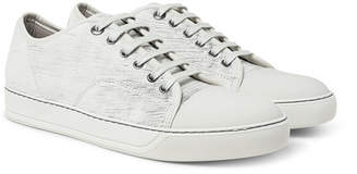 Lanvin Cap-Toe Nubuck And Rubberised-Leather Sneakers