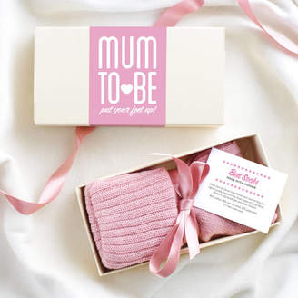 LIBRARY Quirky Gift Personalised Mum To Be Bed Socks