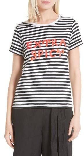 Women's Kate Spade New York Extra Spicy Stripe Tee