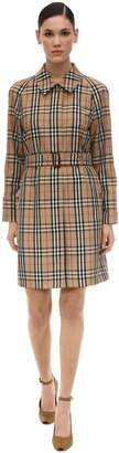 Burberry Check Print Techno Trench Coat