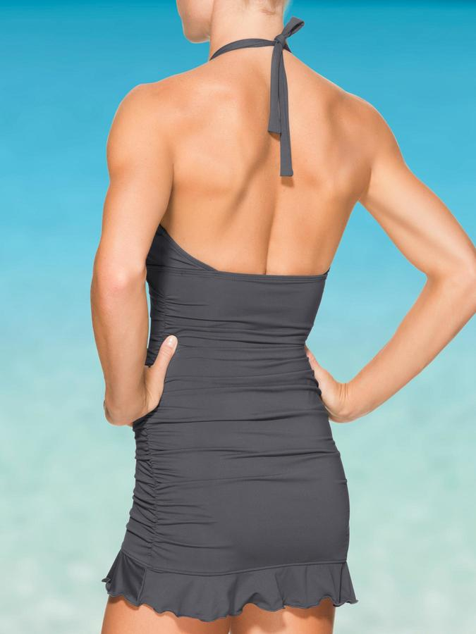 Athleta Shirrendipity Halter Swim Dress