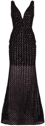 Jovani Lattice Sequin Gown