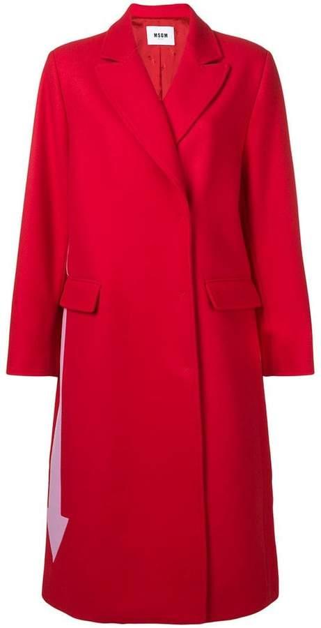 contrast arrow coat
