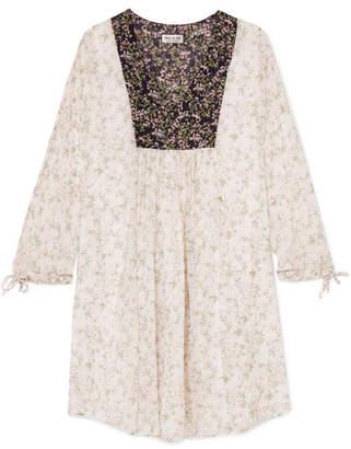 Paul & Joe Fauvette Floral-print Silk-crepon Dress - White