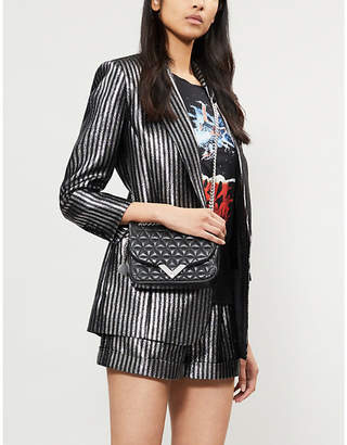 The Kooples Striped lurex metallic blazer