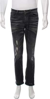 Gucci Distressed Slim Fit Jeans