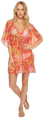 Echo Melba Floral Silky Caftan Women's Clothing