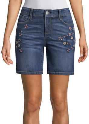 ST. JOHN'S BAY 9 Denim Shorts