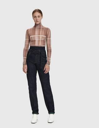 Carven Belted High-Waisted Jean