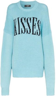 Amiri kisses oversized knited jumper