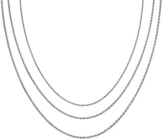STERLING SILVER CHAINS Sterling Silver 16-30 Light Rope Chains