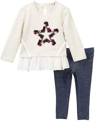 Jessica Simpson Ruffle Knit Tunic & Leggings 2-Piece Set (Baby Girls)