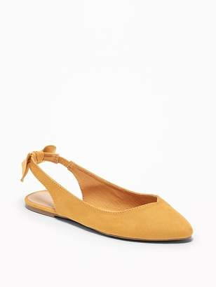 Old Navy Sueded Sling-Back Ballet Flats for Women