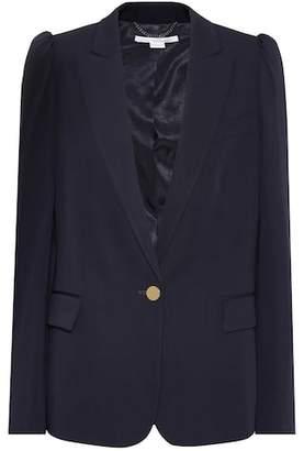 Stella McCartney Puff Shoulder wool blazer