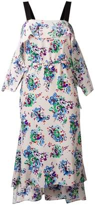 MSGM floral print pointed dress