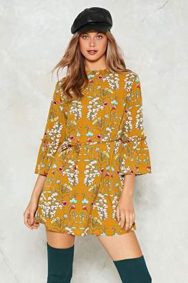 Nasty Gal Tie Your Luck Floral Dress
