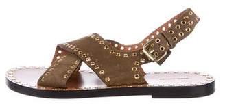 Isabel Marant Suede Grommet-Embellished Sandals